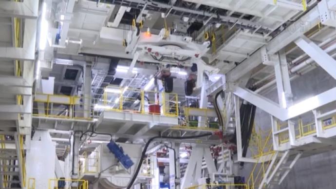 """我國完全自主研發的超大直徑盾構機""""運河號""""投入使用"""