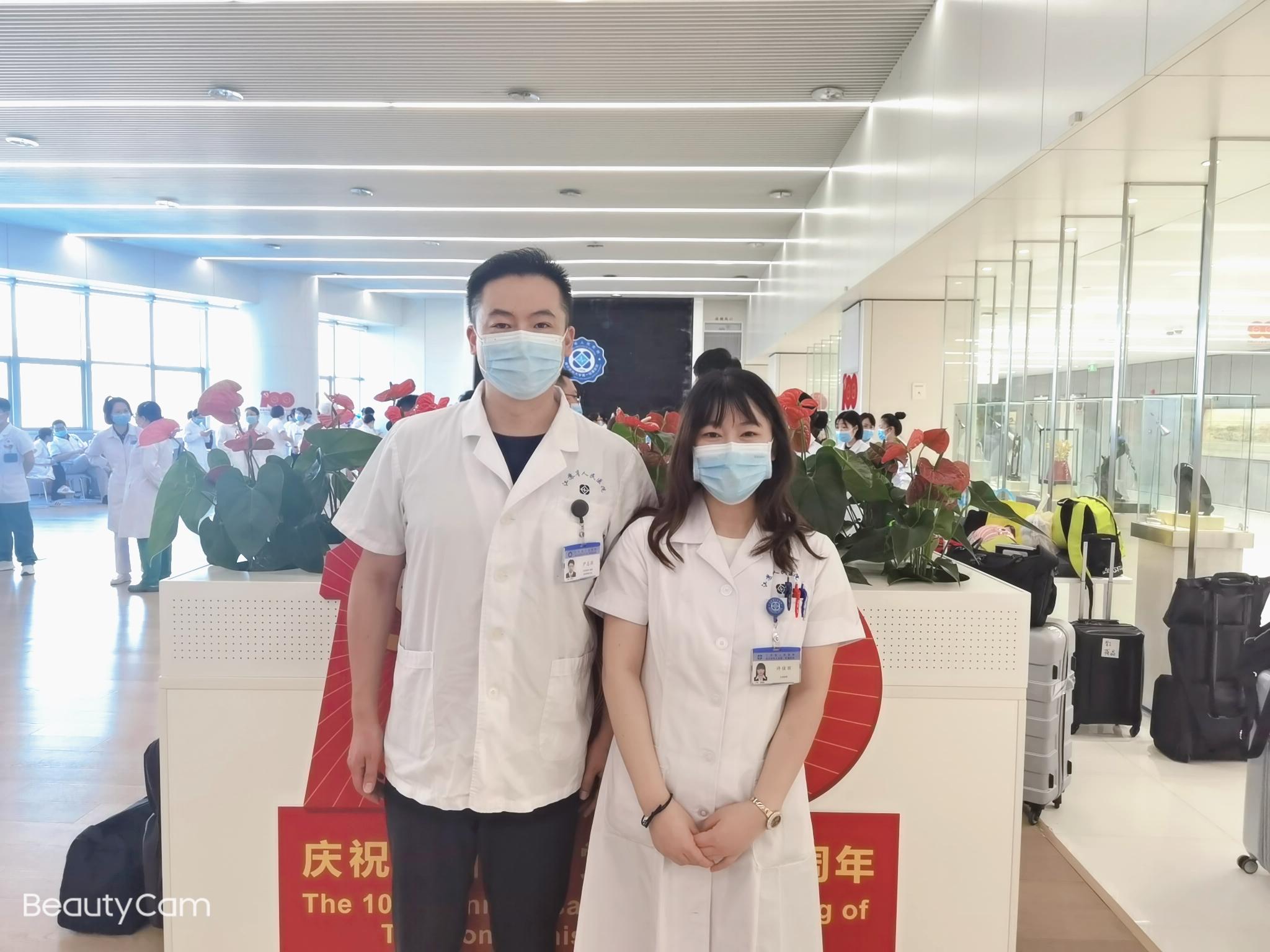 尹志强许佳丽夫妇。 江苏省人民医院 供图