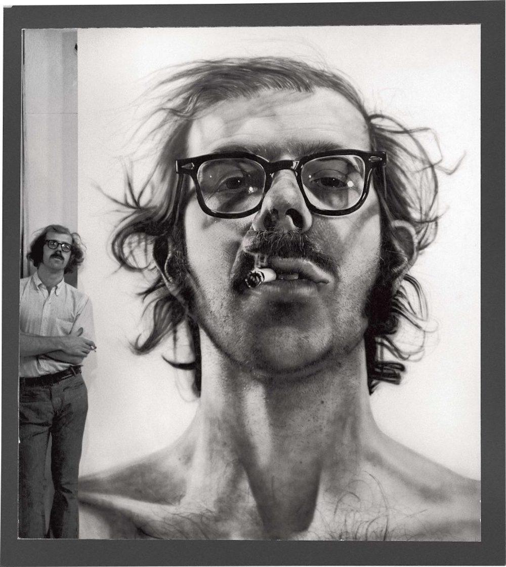 查克·克洛斯的超写实肖像,1968年