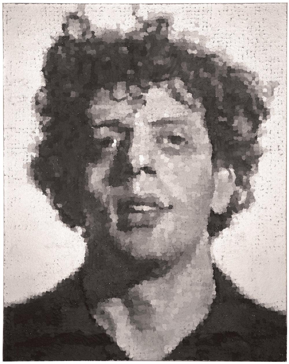 查克·克洛斯1983年为菲利普·格拉斯所作画像。