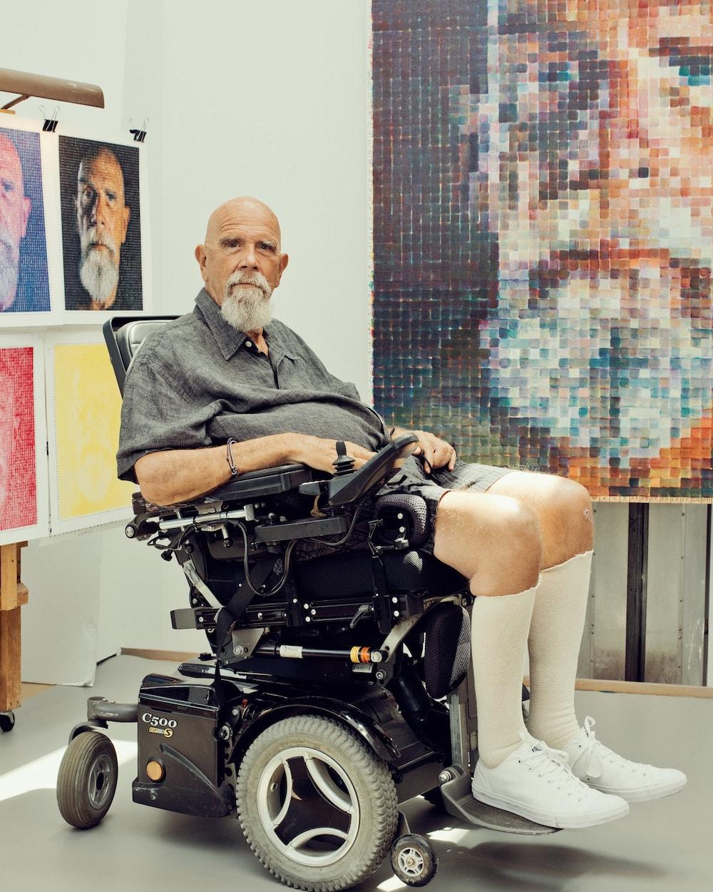 查克·克洛斯(1940-2021),此图拍摄于2017年,摄影师Ryan Pfluger。