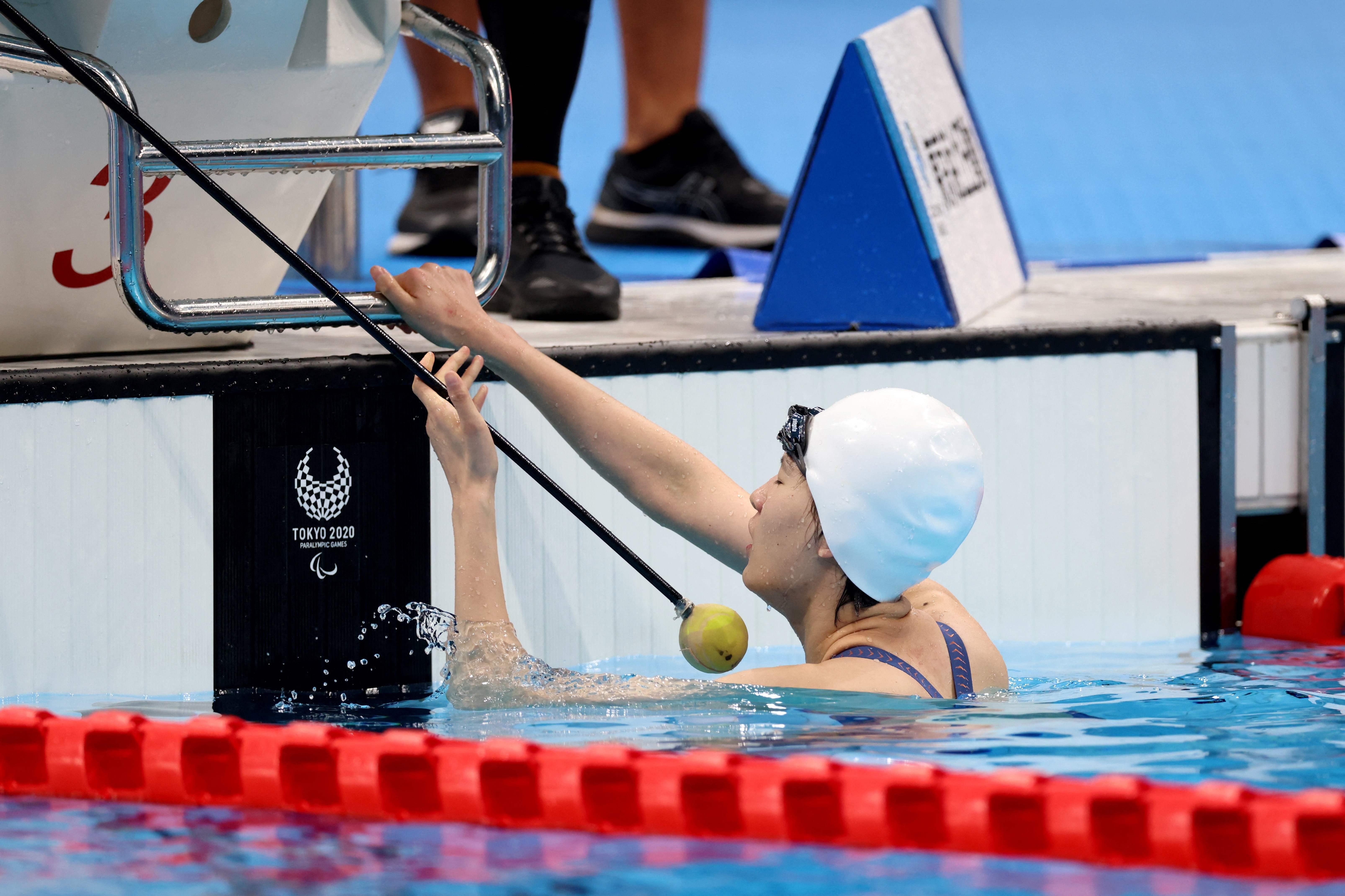 殘奧會女子50米自由泳決賽引發爭議。CFP 圖