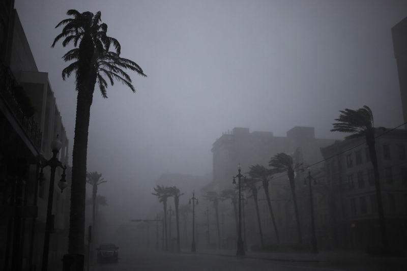 """4級颶風""""艾達""""登陸美國路易斯安那州后造成城市停電。"""