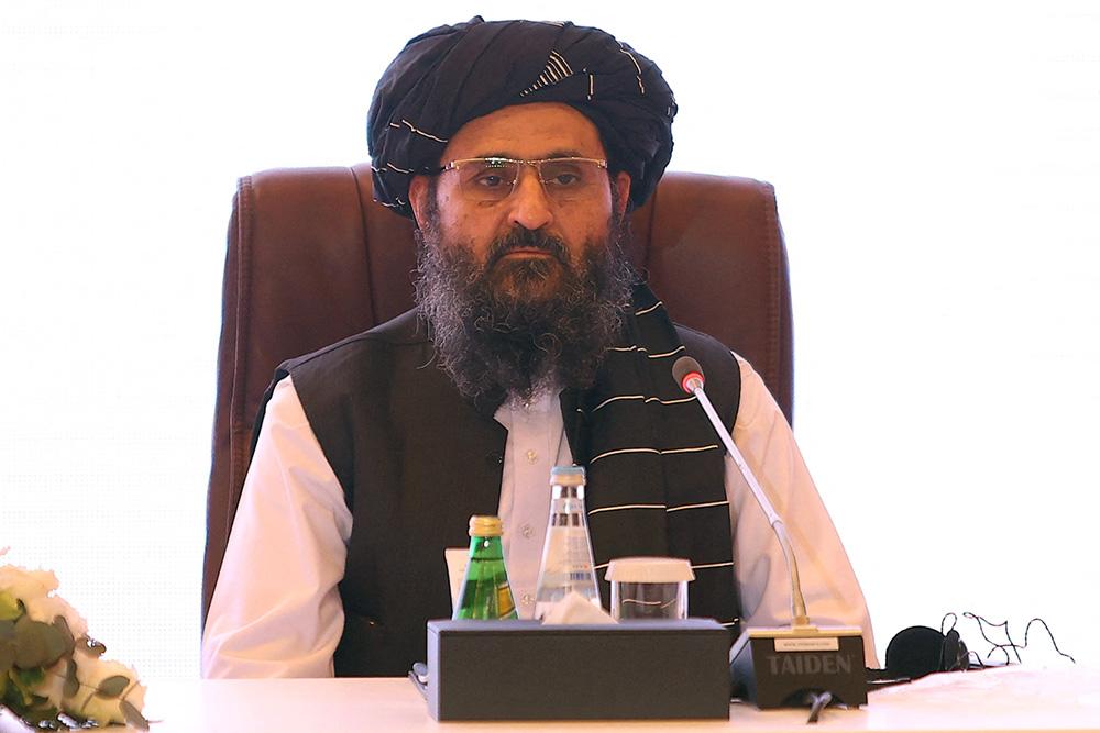 塔利班領導人阿卜杜勒·加尼·巴拉達爾(資料圖)。