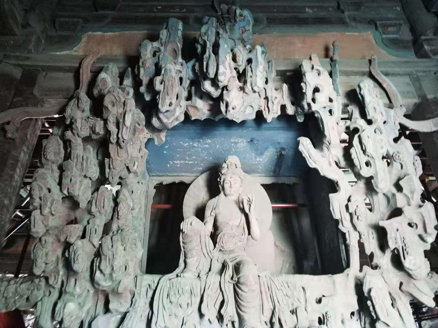 独乐寺的观音塑像