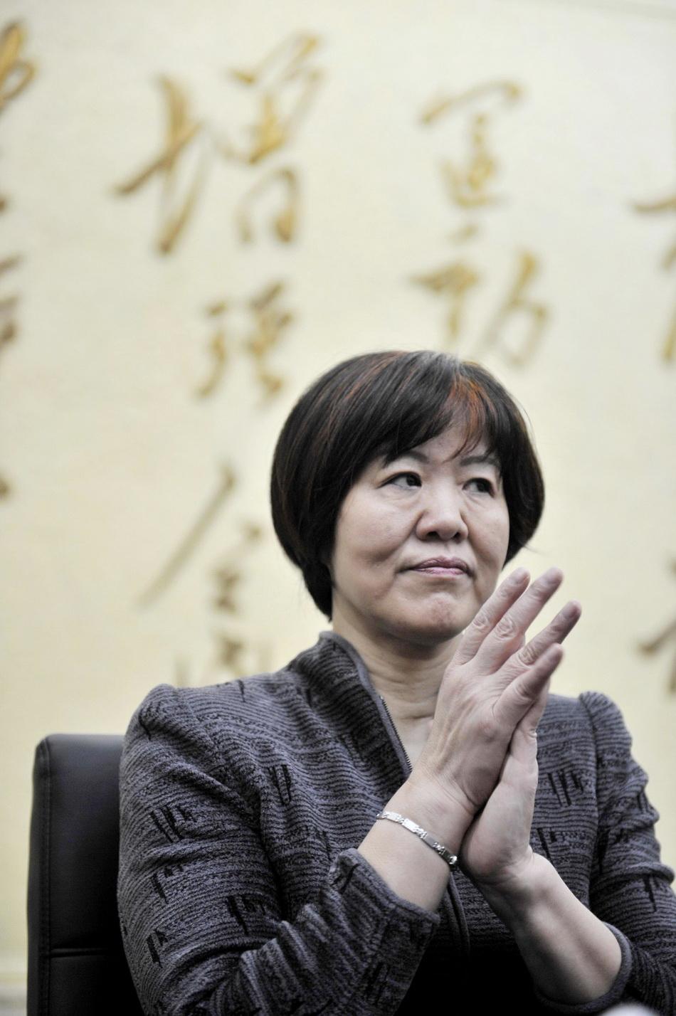 2013年4月25日,北京,郎平再次出任中國女排主教練。