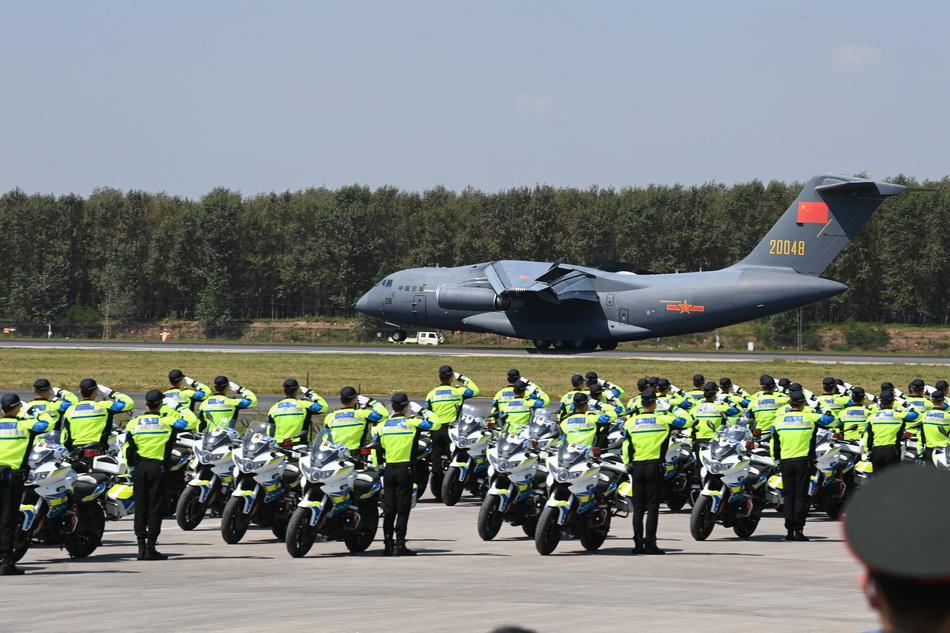2021年9月2日,中國空軍運-20專機降落在沈陽桃仙國際機場。