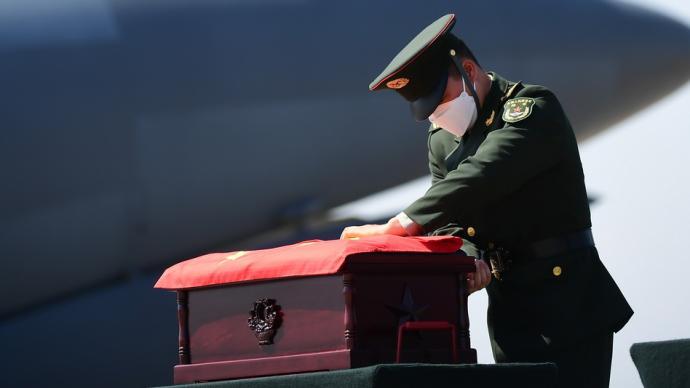 多图直击|英雄归来:埋骨他乡七十一载,最高礼遇接烈士回家