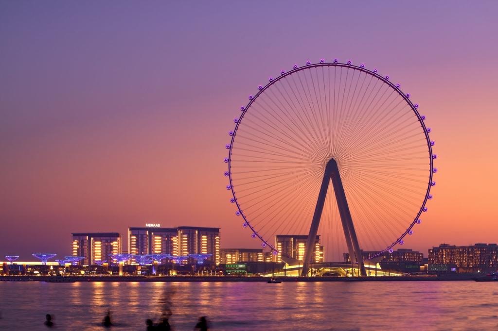 """當地時間2021年9月1日報道,世界上最大、最高的觀景摩天輪""""迪拜之眼""""(Ain Dubai)將于今年10月開幕。"""