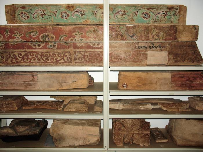 圖2 柏林亞洲藝術博物館館藏來自高昌的木構件? 柏林亞洲藝術博物館