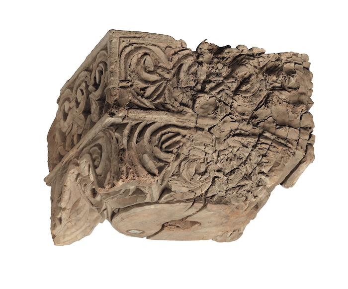 圖3 高昌故城β遺址出土柱頭(III 5016)? 柏林亞洲藝術博物館?利佩(Jürgen Liepe)。