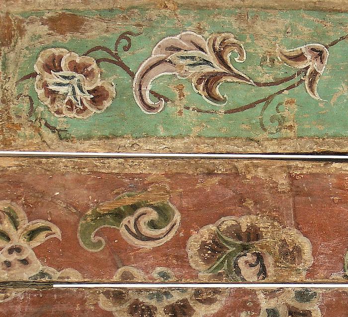 ?Q寺院遺址Ⅲ 4435e和4435c木件彩繪特寫 ? 柏林亞洲藝術博物館 / 利佩(Jürgen Liepe)。