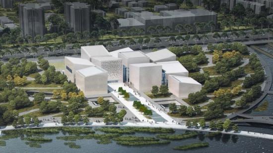 蘇州博物館西館俯瞰圖