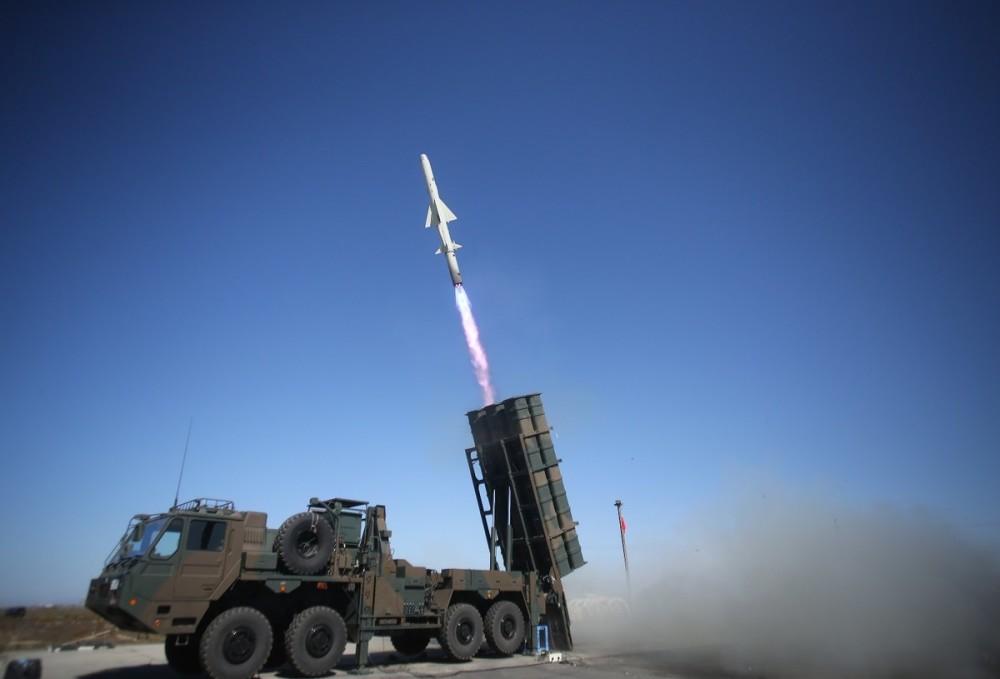 自衛隊裝備的12式岸艦導彈。