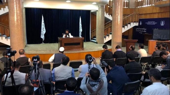 """塔利班發布會:將建立""""臨時政府"""",希望與中國在多領域合作"""