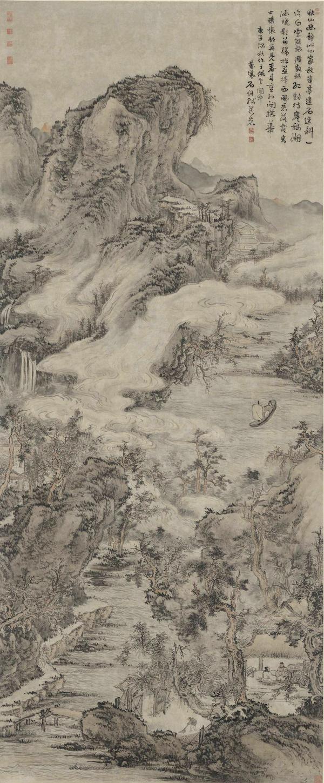 清 髡殘 《秋山幽靜圖》