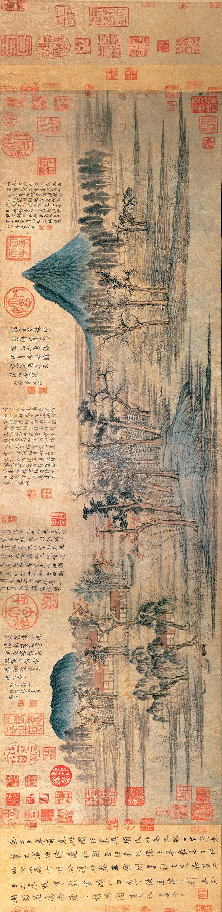 元 趙孟頫 《鵲華秋色圖》
