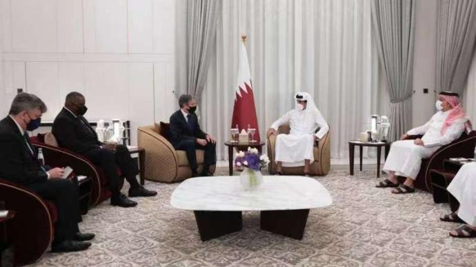 卡塔尔国家元首会见美国务卿和防长,就阿富汗问题等进行讨论