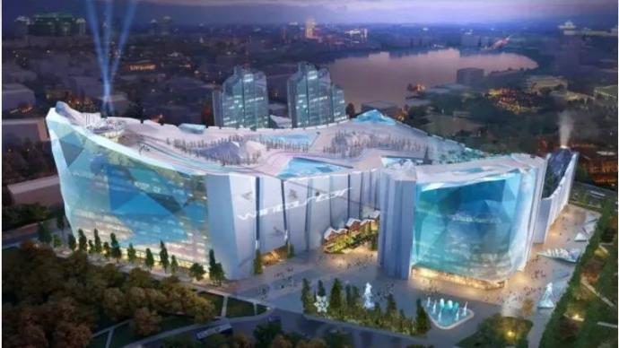 """全球最大室内滑雪场即将""""封顶"""",预计明年底建成开放"""