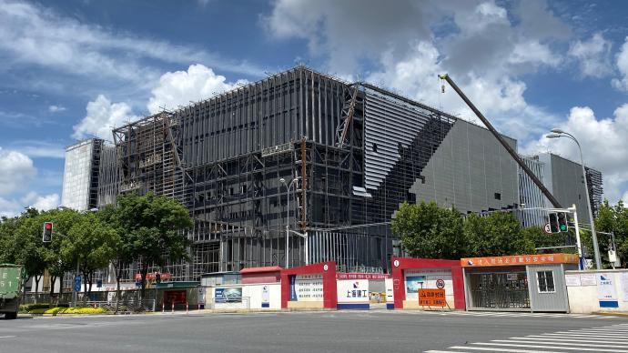 虹橋品匯二期A棟預計9月底完工,未來或入駐千家咖啡企業