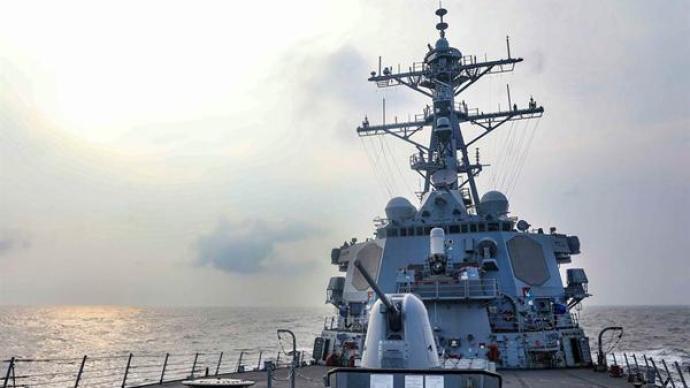美艦擅闖中國南沙島礁鄰近海域,南部戰區予以警告驅離