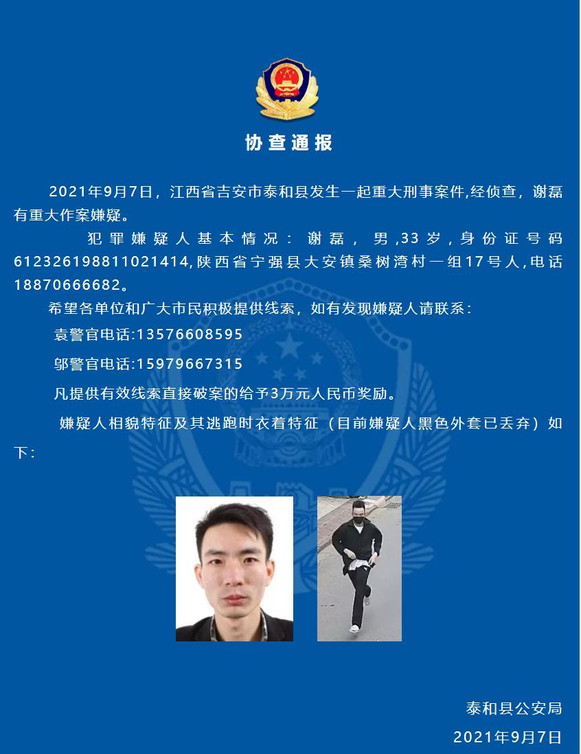 泰和县公安局发布警情通报。 泰和公安 图