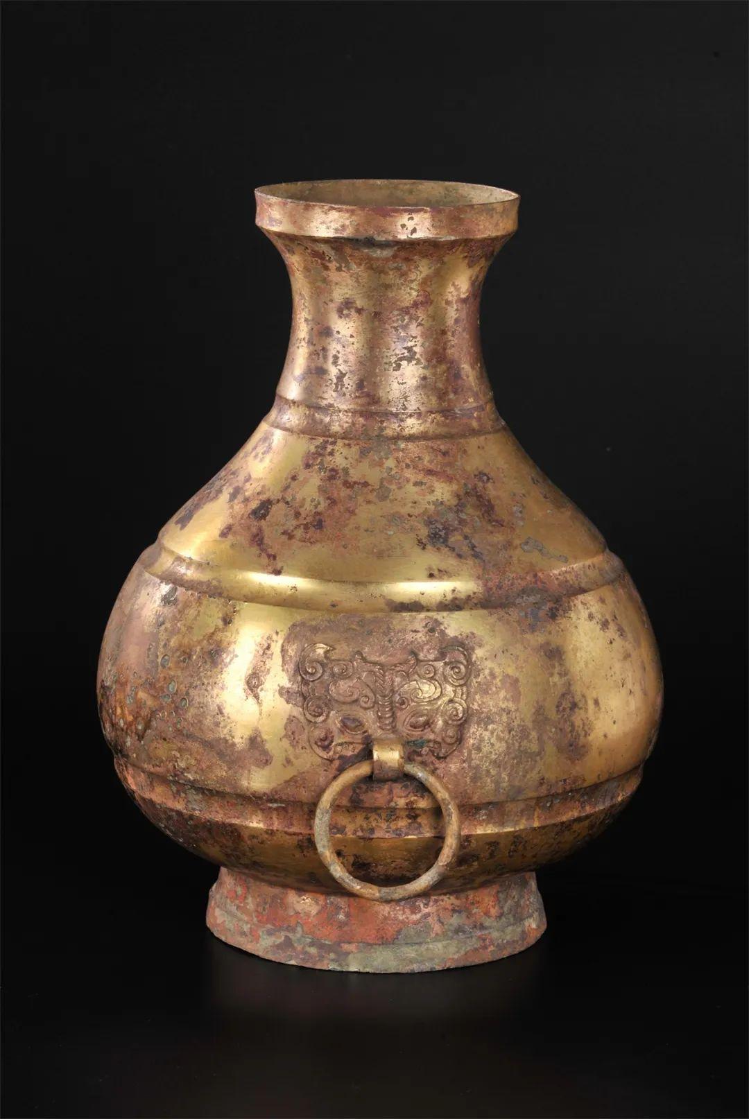 鎏金銅壺??西漢(公元前202年—公元8年)??1983年象崗南越王墓出土 西漢南越王博物館藏