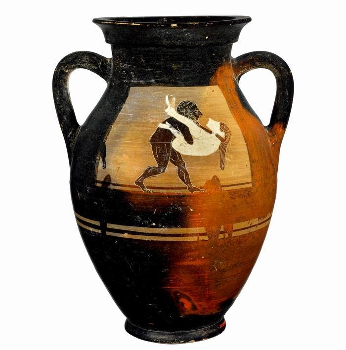 伊特鲁里亚陶器上的黑白人物图案永远保留了伊特鲁里亚人沉溺于性爱的传说