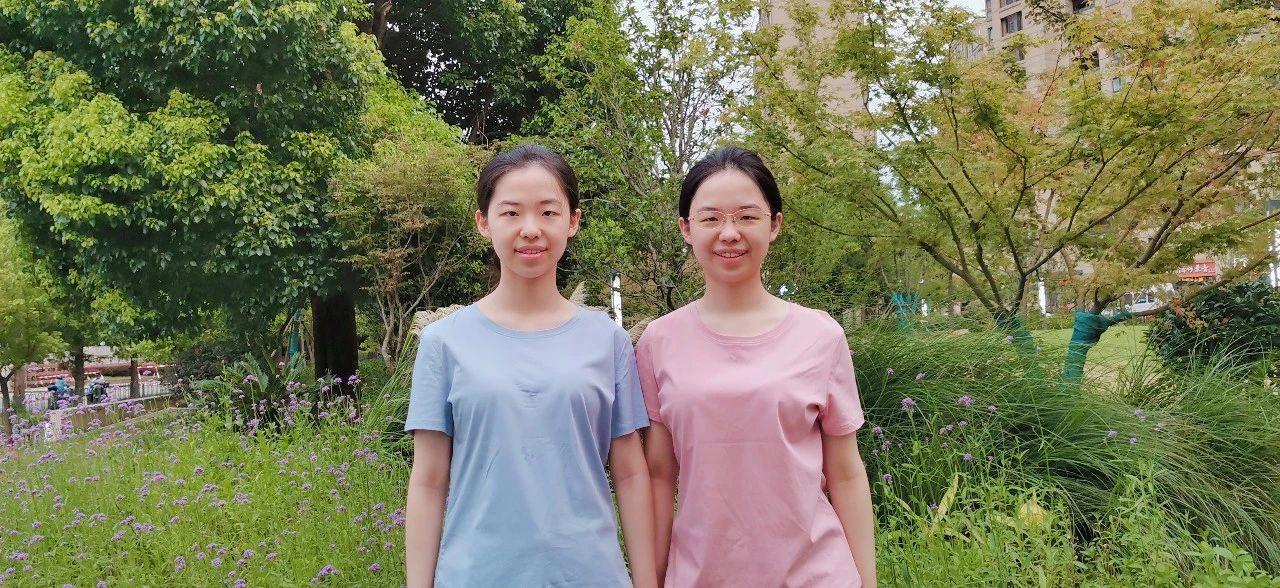 双胞胎姐妹衣方(右)和衣圆(左)。本文图片均为上海交大医学院 供图