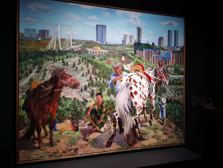 劉小東《空城計2》2015 布面油畫 250x300 cm 作品由藝術家提供