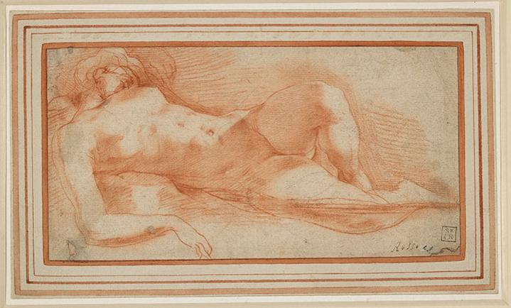 羅素·菲倫蒂諾(1494—1540)《睡夢中的裸女》約1530至1540年