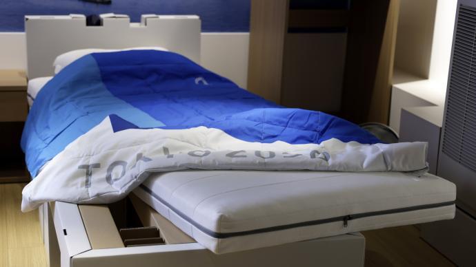 東京奧運村紙板床或用作新冠病床