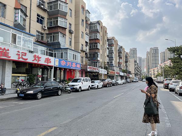 姜志东作案后沿途走过的街市 。