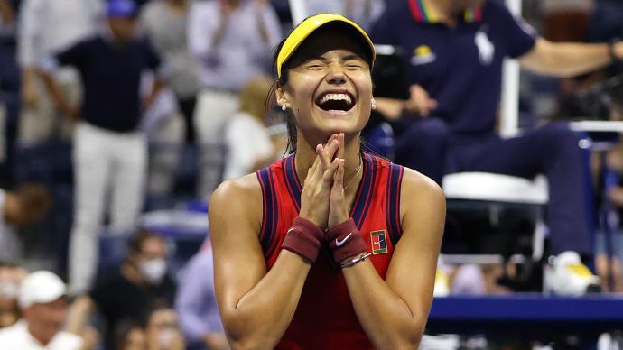 18歲拉杜卡努連贏9場晉級美網決賽,她有一半中國血統