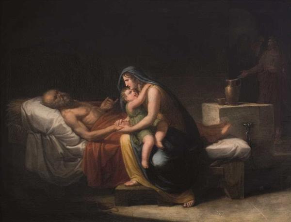 苏格拉底的妻子和他告别