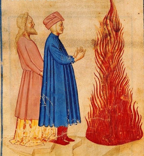 但丁与维吉尔见到被火焰包裹的尤利西斯