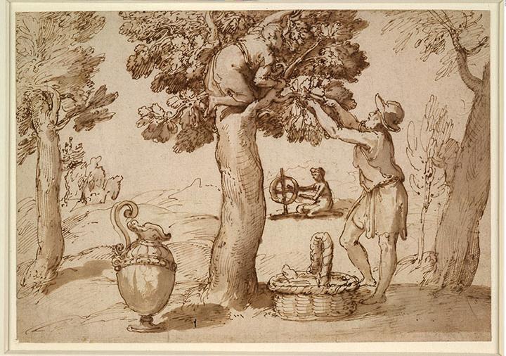 塔德奧·祖卡羅(1529至1566年)的畫作《養蠶》(1564至1566年)