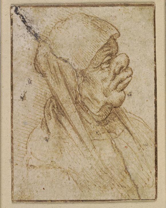 列奧納多·達·芬奇(1452—1519)《老年女子漫畫像》 1482至1499年