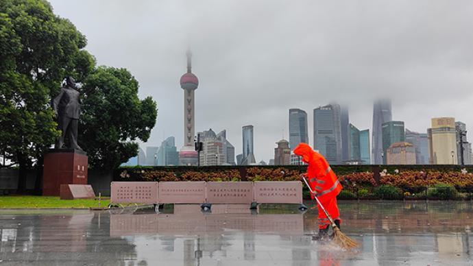 上海解除雷��S�}色、�S浦江高潮位�{ㄨ色�A警,�S※持暴雨�{色�A警