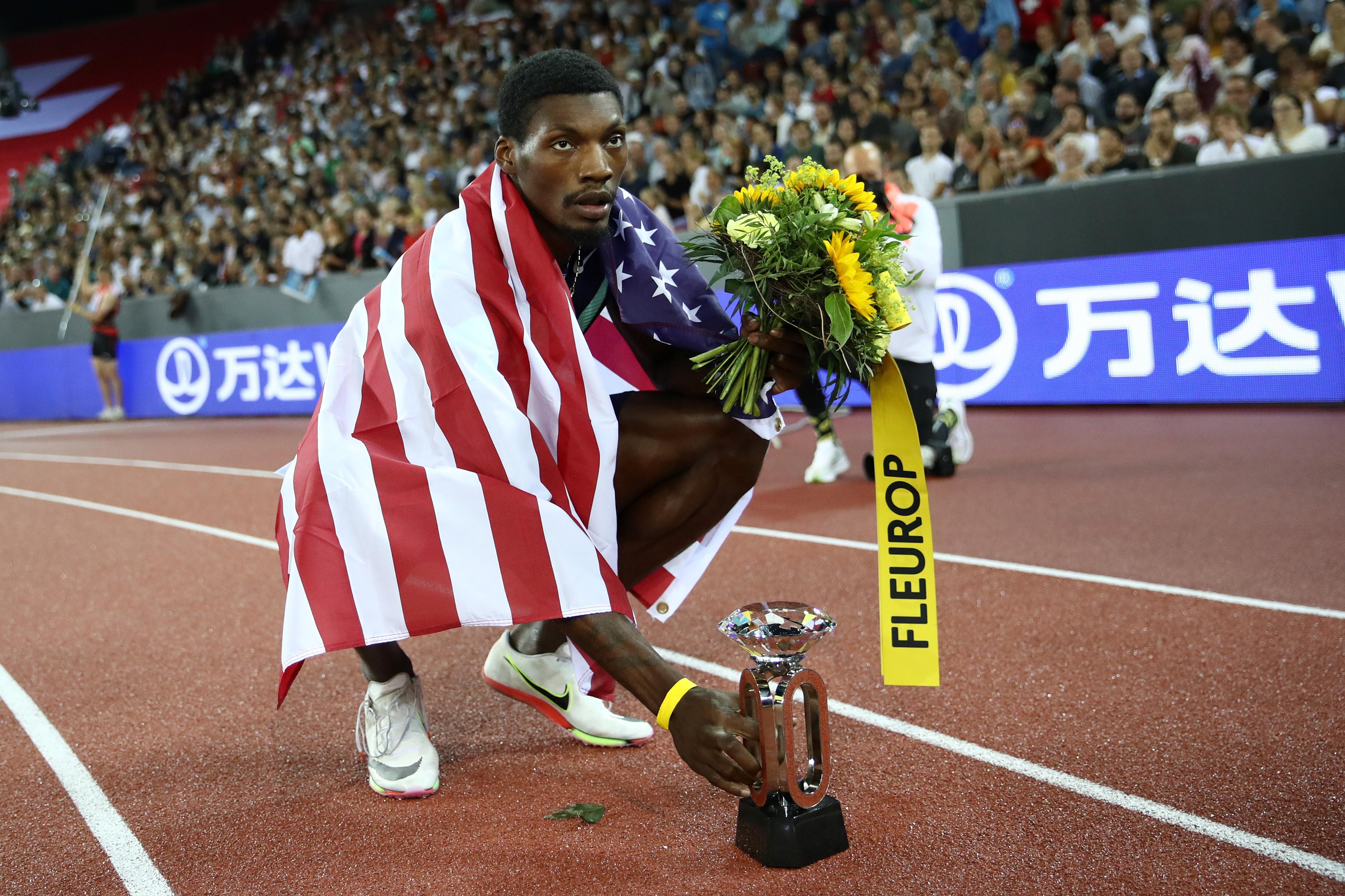 弗雷德·克利100米奪金。