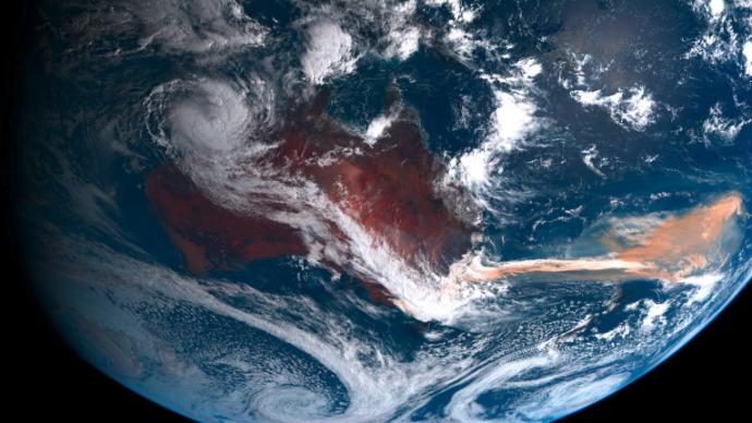 澳洲大火之后海中浮游植物爆发增长:铁气溶胶施肥
