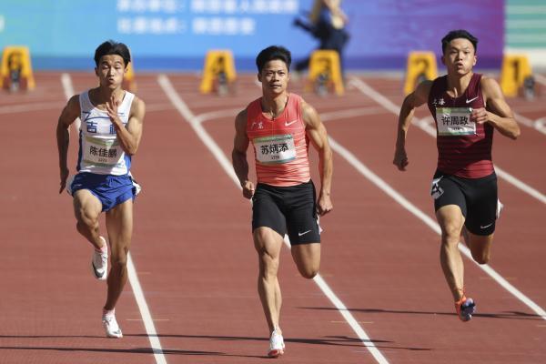 必晟平台登录:苏炳添亮相全运会百米大战,预赛小组第一晋级半决赛