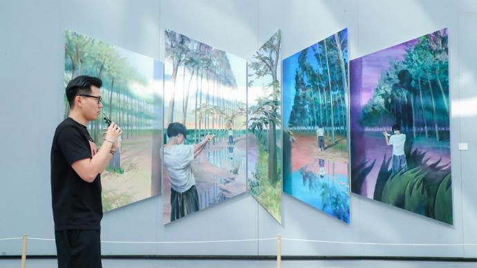让艺术不再晦涩难懂,上海宝山民博馆开展艺术家现场导赏活动