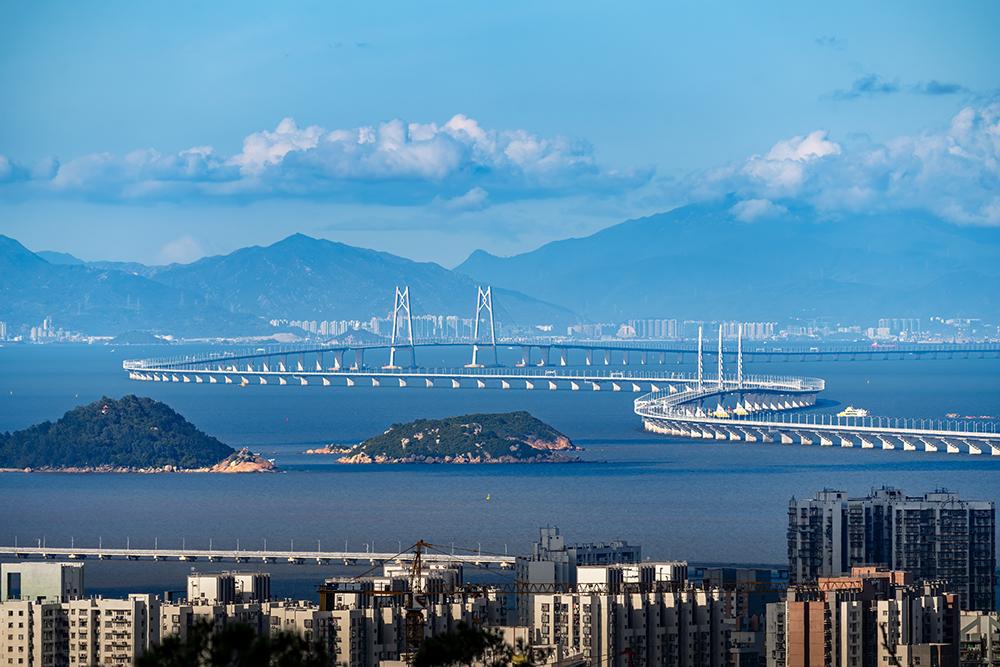 2021年5月23日,广东珠海,港珠澳大桥。 人民视觉 资料图