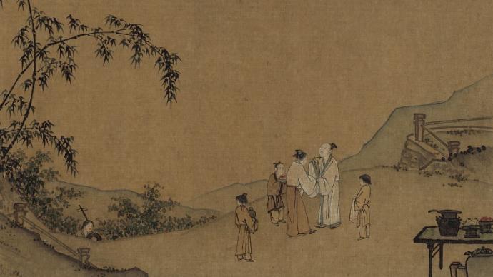 在中国绘画里,与古人共赏月度中秋