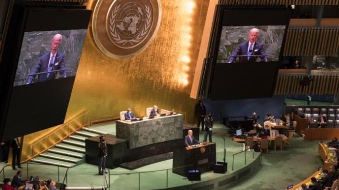 """拜登首次以美国总统身份在联大讲台发声:美""""不寻求新冷战"""""""