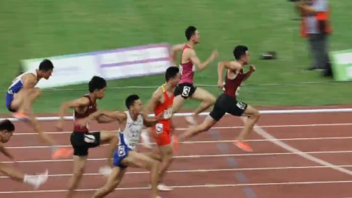男子110米栏:谢文骏13.37秒实现全运会三连冠