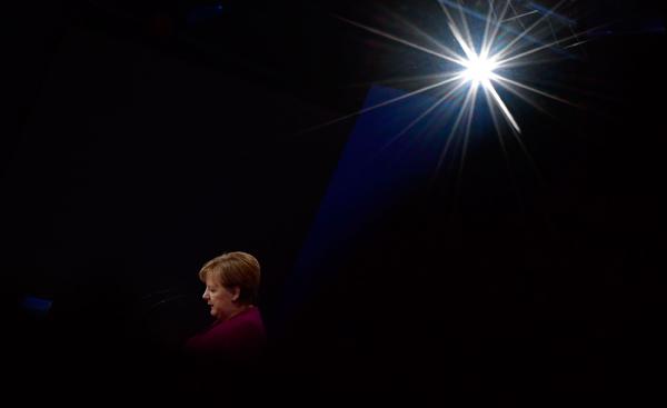 德国历史上第一位女总理默克尔。
