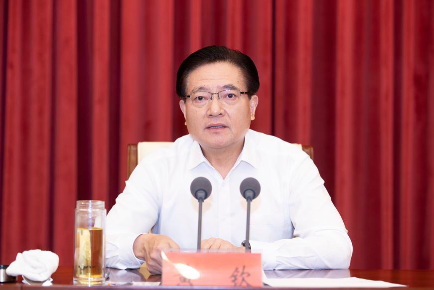 7月20日,无锡召开全市领导干部会议,黄钦离任讲话。无锡日报/图