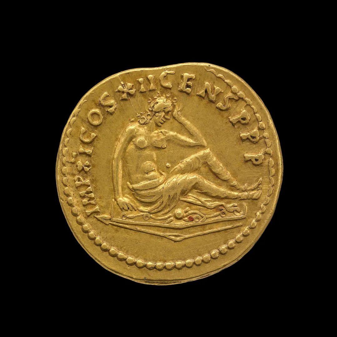图密善金币(击败日耳曼) 公元86年